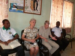 La délégation ASET et CECODRI ONG chez les autorités