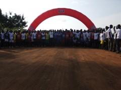 Les coureurs au point de départ du marathon organisé par ceco group