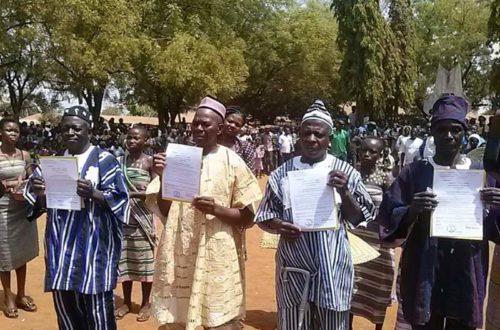 Article : Sotouboua/ Quatre nouveaux chefs de villages ont reçu leur arreté