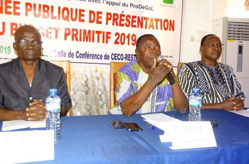 Article : La Commune de Sotouboua a présenté son budget primitif 2019 à sa population