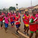 Footing des clubs 25 de Sotouboua, un pas de géant pour une synergie  autour du don de sang