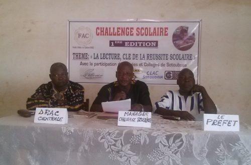 Article : Sotouboua: Challenge scolaire est officiellement lancé