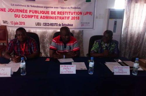 Article : Commune de Sotouboua, le compte administratif 2018 rendu public