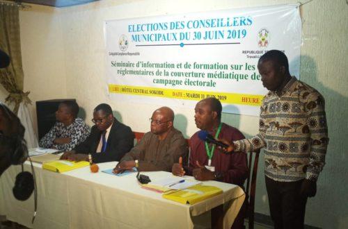 Article : Élections locales 2019 au Togo: La Haac outille les responsables des medias et des partis politiques de la Région Centrale