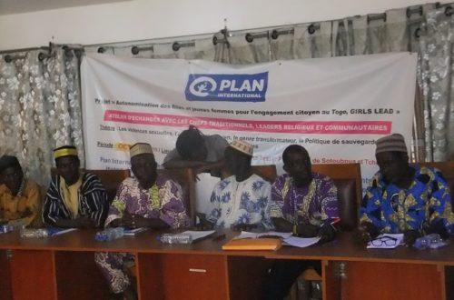 Article : Sotouboua, Projet Girls Lead: Lutte contre les violences faites aux filles, des chefs traditionnels et leaders d'opinion édifiés sur le mécanisme de sauvegarde des enfants
