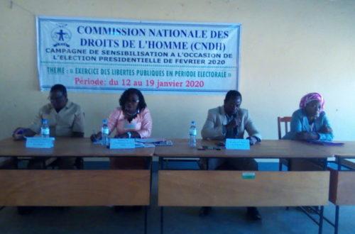 Article : Election Présidentielle 2020: La CNDH a sensibilisé les acteurs et autorités locales de Sotouboua sur l'exercice des libertés publiques en période électorale